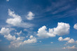 Light Blue Summer Sky with Beautiful White Clouds