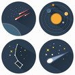 Постер, плакат: Stars constellations icons