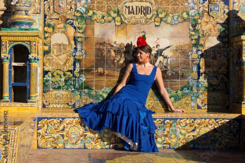 Zdjęcia na płótnie, fototapety, obrazy : Girl from Madrid