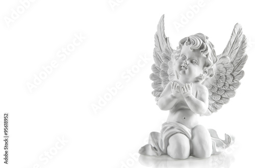Little white guardian angel. Christmas decoration - 95618952