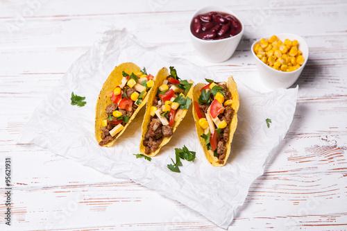 Delicious beef tacos Canvas Print