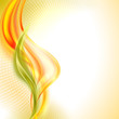 Vector abstract orange wave background
