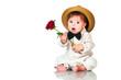 Obrazy na płótnie, fototapety, zdjęcia, fotoobrazy drukowane : You congratulated their favorite? Emotional pretty baby gentlema