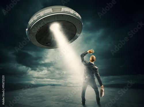 Foto op Canvas UFO UFO space shuttle
