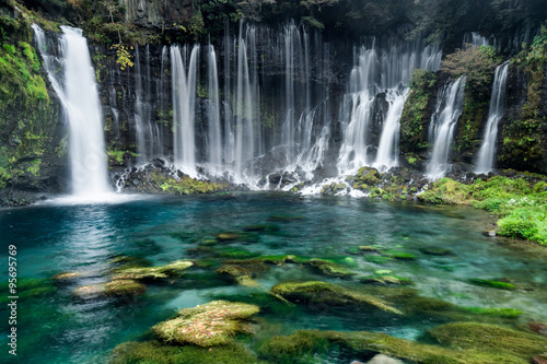 turkusowe niebieskie wodospady