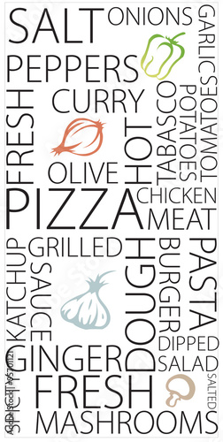 Pizza typography for wall styling