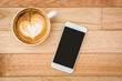 Obrazy na płótnie, fototapety, zdjęcia, fotoobrazy drukowane : View of a heart composed of coffee