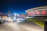 Night view of the International Conferrence Centre in Katowice, Silesia - 95709704