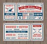 Fototapety Vector Baseball Event Invites