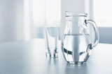 Water. Drinks. Glass And Pitcher With Water. Balance, Hydratation, Ingridients, Drink.