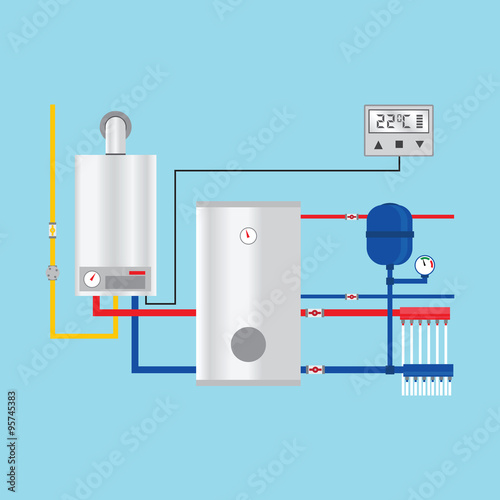 Energy efficient heating system with thermostat vector for What is the most economical heating system