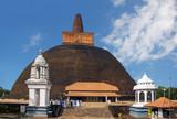 Sri Lanka. Anuradhapura. Abhayagiri Dagoba