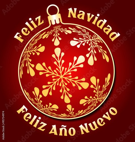 merry christmas and happy new year in spanish card