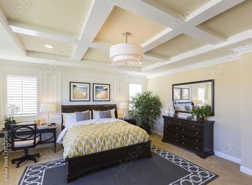 Plagát Interior of A Beautiful Master Bedroom