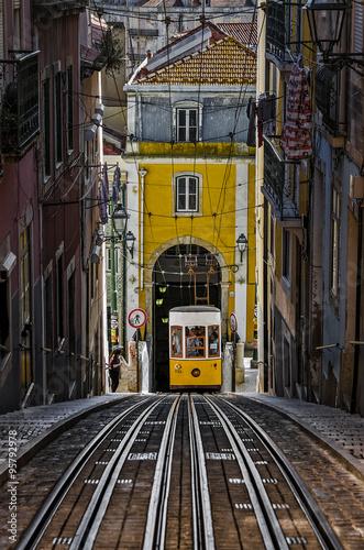 "Poster The ""Bica"" Funicular - Lisbon, Portuga"