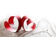 Obrazy na płótnie, fototapety, zdjęcia, fotoobrazy drukowane : Ribbon hearts