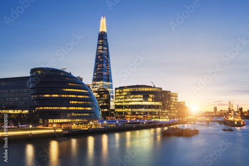 View of london skyline