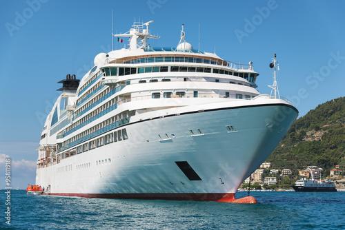 Naklejka white passenger ship