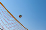 Volleyball Ball Over Net