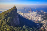 Fototapety Aerial view of Christ the Redeemer and Rio de Janeiro city