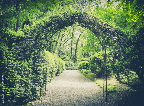 secret garden in vintage style