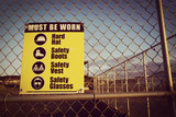 Site safety signs construction site for health and safety