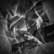 Abstract dark 3d chaotic polygonal surface