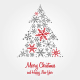 Fototapety Christmas card, wishes, christmas tree