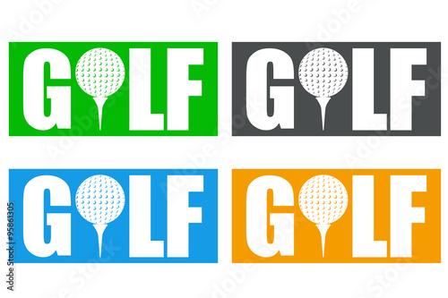 Fototapeta Icono plano GOLF en varios colores #2
