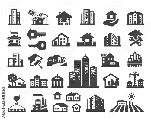 szablon projektu logo wektor domu. ikony nieruchomości lub budynku