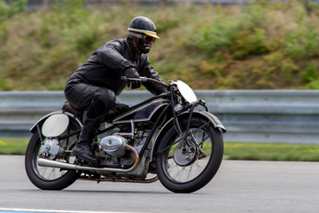 historical motorcycle in the Masaryk circuit Brno © Jaroslav Uher