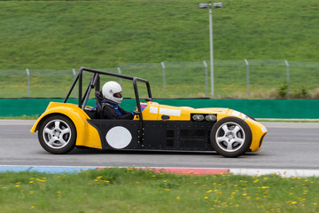 yellow buggy in the Masaryk circuit Brno
