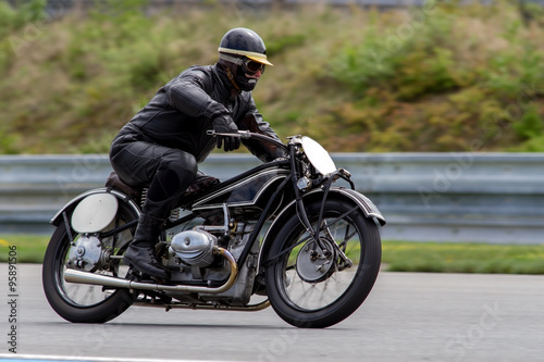 historical motorcycle in the Masaryk circuit Brno