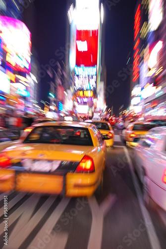 Foto op Plexiglas New York TAXI NEW YORK CITY TIMES SQUARE