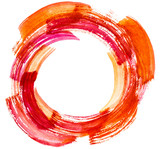 Red Orange watercolor circle