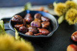 Chestnuts, maroni - roasted chestnuts