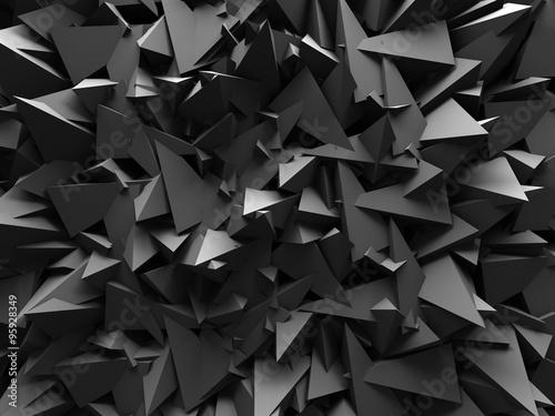 Zdjęcia na płótnie, fototapety na wymiar, obrazy na ścianę : Abstract Dark Chaotic Wall Design Background