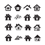 Fototapety House Icon Real estate Set for website