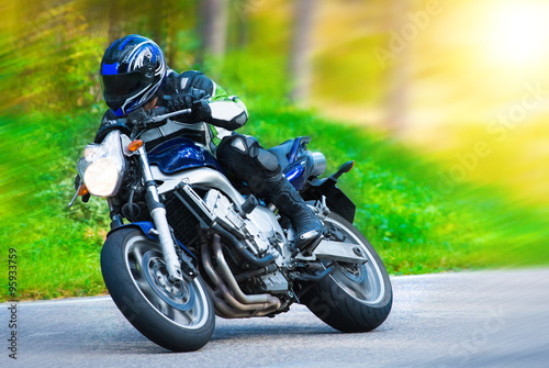 obraz lub plakat Dynamic motorbike racing