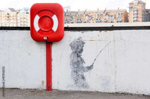 Banksy - Needle Fisher Boy Poster