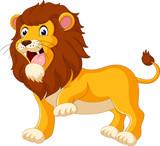 Fototapety Cute lion cartoon of illustration