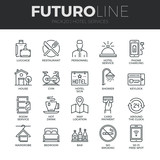 Fototapety Hotel Services Futuro Line Icons Set