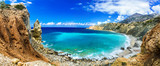 wild beautiful beaches of Greece - Akrotiri bay in Karpathos island - 95952735