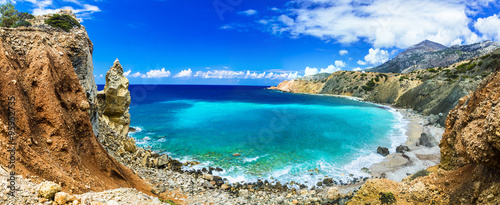 wild beautiful beaches of Greece - Akrotiri bay in Karpathos island