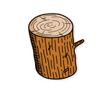 Wood Log, a hand drawn vector illustration of a wood log.