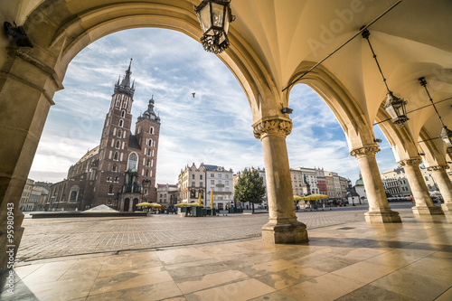 Zdjęcia na płótnie, fototapety na wymiar, obrazy na ścianę : Krakow Market Square, Poland