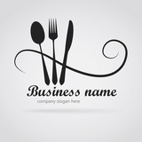 Fototapety Logo modern restaurant