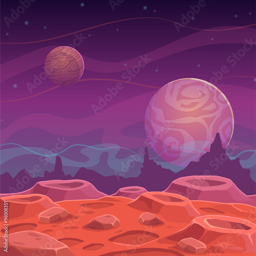 Naklejka Fantasy alien landscape