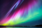 Fototapety Northern lights (Aurora borealis) in the sky