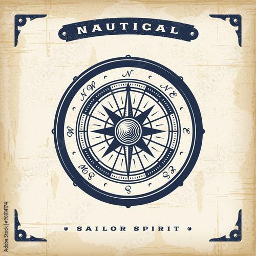 Vintage Nautical Compass